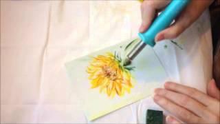 How To Paint A Sunflower - Encaustic Art