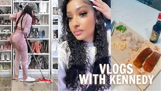 COOKING, CLEANING, AND PAINTING FUN! | VLOGS WITH KENNEDY