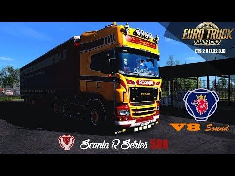 SCANIA R580 RJL/ Owned Trailer /V8 Sound /Promods - ETS2 1 32 3