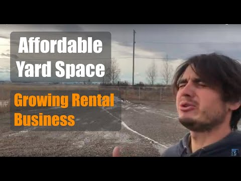 Found Affordable Industrial Yard Space - Growing Event Rental Business