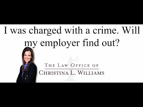 I was charged with a crim…