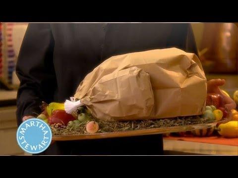 How To Make A Paper Bag Turkey Thanksgiving Decorations Martha Stewart