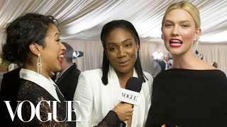 Tiffany Haddish and Karlie Kloss on Dancing With Michael B. Jordan | Met Gala 2018 With Liza Koshy - Video Youtube