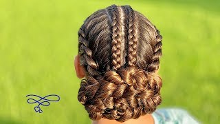 French Twist Dutch Braid Combo