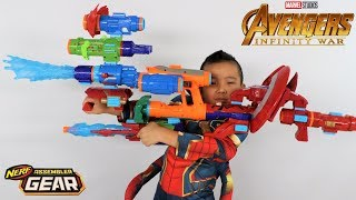 Avengers Infinity War Toys Nerf GEAR Assembler Test With Ckn Toys