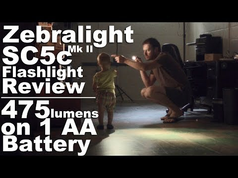 Zebralight SC5c mk II Flashlight Review.  The brightest AA Every Day Carry Ever?