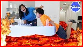The Floor is Lava + Bottle Flip + Mannequin + Fidget Spinners Challenge!!!