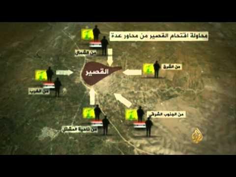خريطة السيطرة في القصير وريفها في ظل المعارك