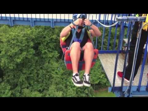 There's a ride in an amusement park in Denmark where they just throw you off a 100 feet tall tower