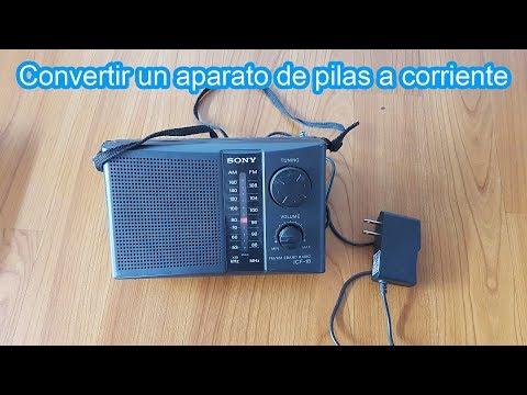 Cómo convertir un aparato de pilas a corriente, con un cargador de celular | pilas por corriente
