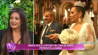Teo Show (05.11.2018) - Bianca Rus s-a intors din luna de miere petrecuta in Dubai!