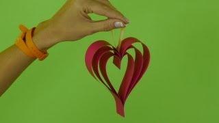 видео для детей -  как сделать из бумаги  сердечко