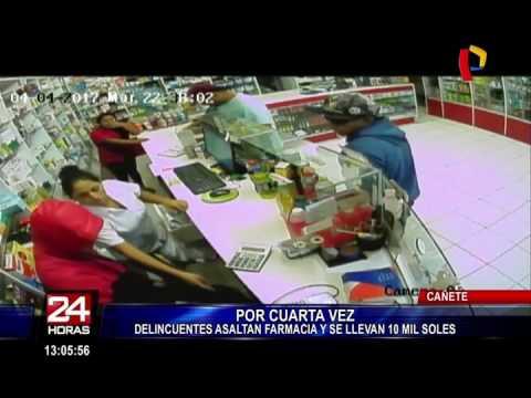 En Cañete delincuentes asaltan farmacia por cuarta vez