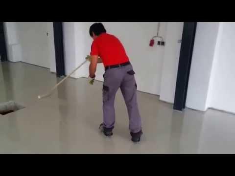 Bodenbeschichtung mit STO BB OS StoCretec Epoxidharzbeschichtung