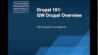 GW Drupal Classic Theme Overview title slide