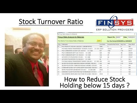 Stock Turnover Ratio - Finsys ERP Software Manual