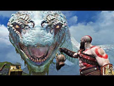 God of War 4 - ALL World Serpent GIANT SNAKE Cutscenes (God of War 2018) PS4 Pro (видео)