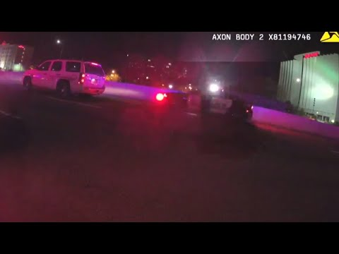 Moments after suspected drunk driver smashes into police car