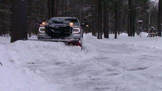 Plowing 18 inches of snow on a long country driveway
