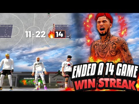 NBA 2K19 MyPARK - FINALLY! NO MORE PUSHING! We ENDED A 14-GAME WIN STREAK!