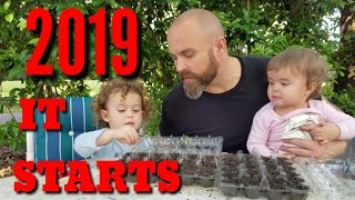 HOW TO START SEEDS FOR THE GARDEN! 2019, ... on the Road to the Big Farm!