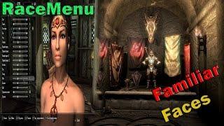 Skyrim обзоры модов: RaceMenu, Familiar Faces.