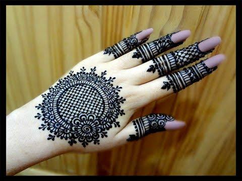 Beautiful Flowers Simple Easy Mandala Gol Tikki Henna Mehndi Designs