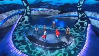 Pirates of the Sea - Wolves of the Sea (Eurovision 2008 - Latvia) Broadcasting by ERT