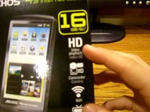 Archos 43 16gb Unboxing-First US Video!!