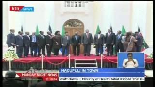 KTN Prime: President Pombe Magufuli meets with President Uhuru to solidify trade in EAC, 31/10/16
