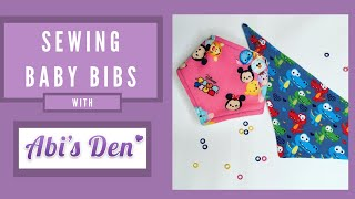 Sew an Easy Baby Bandana Dribble Bib | Abi's Den ✂️🧵🌸