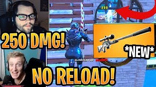 Streamers First Time Using *NEW* Suppressed Sniper Rifle! (Silenced Sniper) - Fortnite Moments
