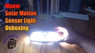 Mpow Solar Motion Sensor Light Unboxing