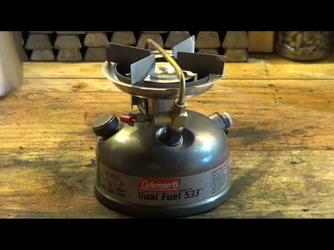 How to light a Coleman 533 multi fuel single burner stove