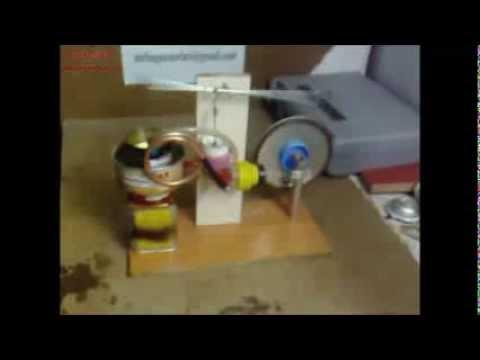 Ev yapımı supompalı walking beam model Stirling motoru (Homemade water pump Stirling engine
