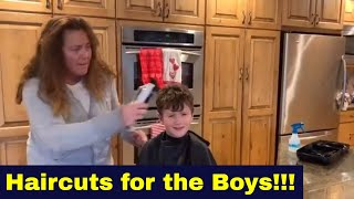 Haircuts For The Boys!!!