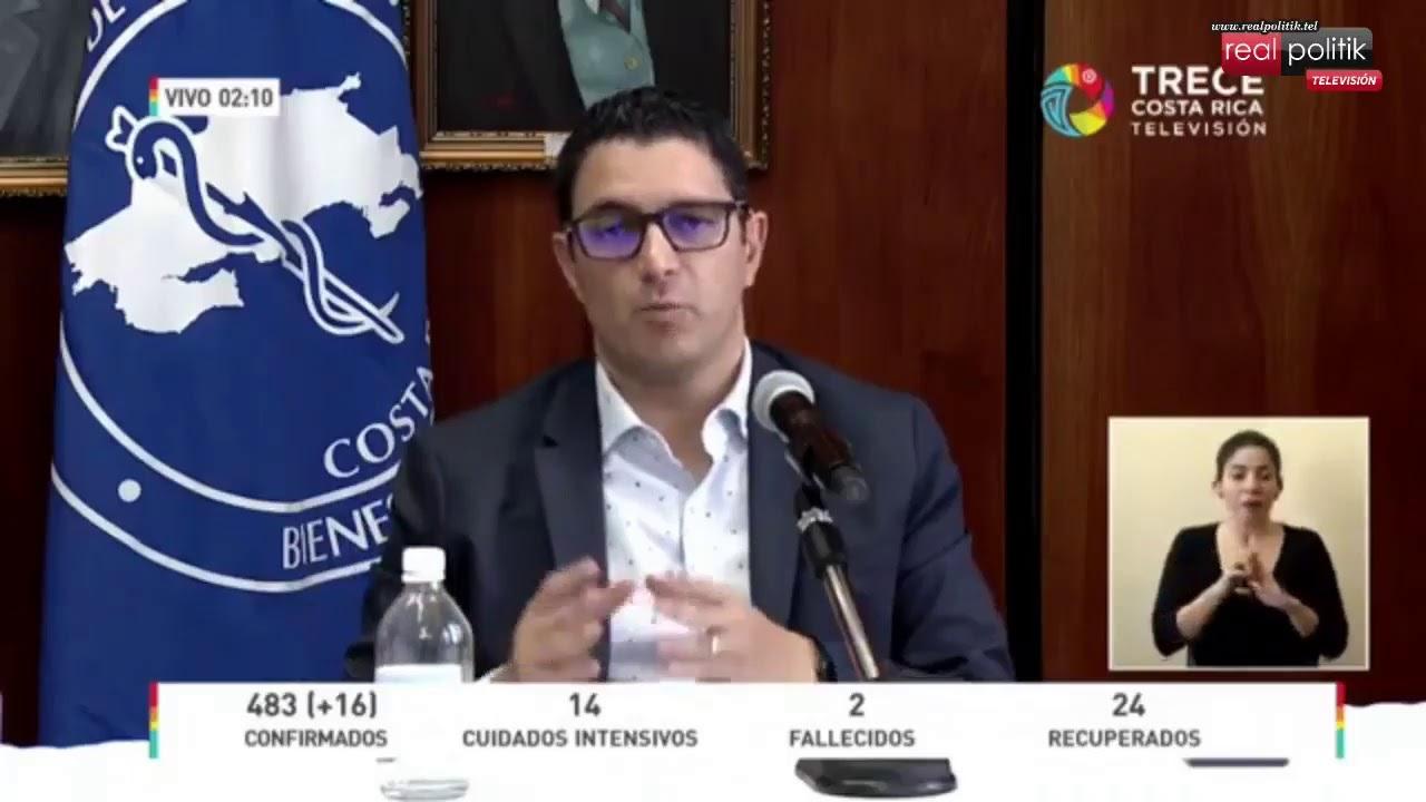 Costa Rica: 483 infectados y 2 muertos por coronavirus