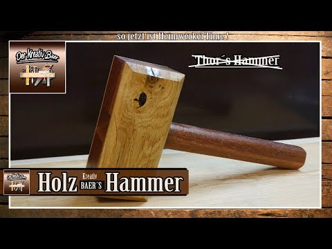 🔨   Wooden  Mallet | Holzhammer  selber bauen | selber machen