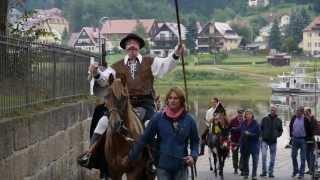 preview picture of video 'Don Quijote geht wählen in Stadt Wehlen 2013'