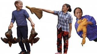 Hưng Vlog - Bắt Gà Của Mẹ Đem Chiên KFC Nguyên Con Xem Phản Ứng Của Mẹ Và Cái Kết