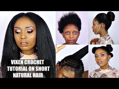 Vixen Crochet Braids Tutorial On Short Natural Hair
