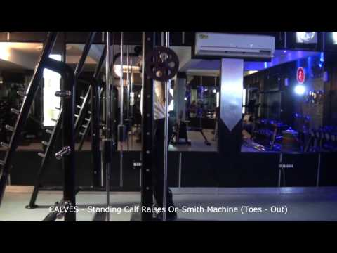 CALVES - Standing Calf Raises On Smith Machine (Toes - Out)