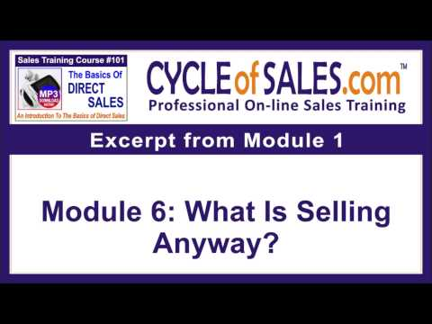 The Basics Of Direct Sales Training Course 101 - YouTube