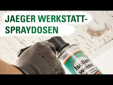 JAEGER Spraydosen: Heizkörperlack - Universal-Grundierung - Isolierweiss