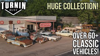 Shop Tour of Turnin Rust's HUGE 60+ Classic Vehicle Collection | Turnin Rust