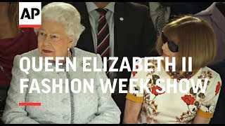 At 91, Queen Elizabeth II Attends First Fashion Week Show - 2018