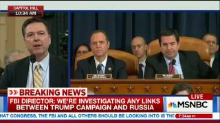 MSNBC Live With Hallie Jackson - Comey confirming Russia investigation