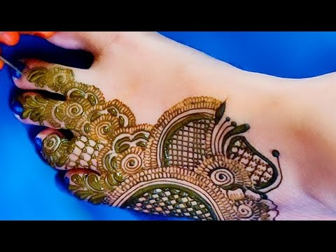 bridal feet mehndi design by aaru mehndi
