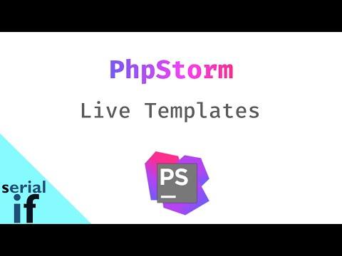 PhpStorm : Live Templates