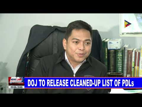 DOJ to release cleaned-up list of PDLs